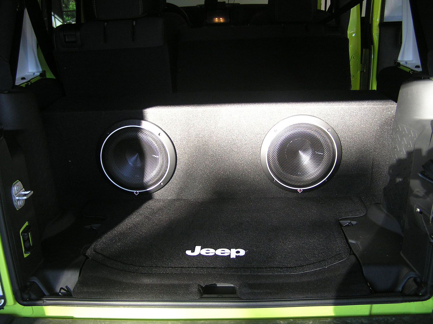 Install Pioneer Avh 4200nex Sub Cam Jeep Jk Wrangler Forum 2002 Liberty Subwoofer Enclosure This Image Has Been Resized Click Bar To View The Full